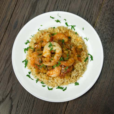 Shrimp Creole with CauliRice