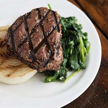 Tenderloin Medallion with Grilled Onion & Spinach