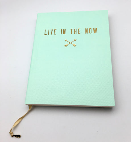 Lucky Feather Live In The Now Small Unlined Journal