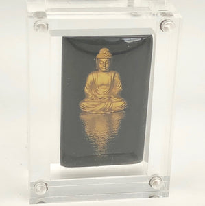 BuDhaGirl Reminder Amulet - Mirror Buddha - Wealth