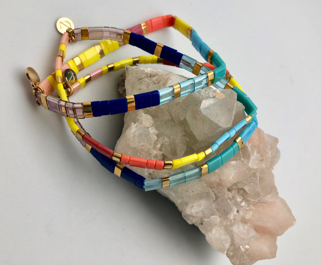 Caryn Lawn Supernova Color Block Bead Bracelet