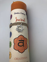 Sacral Chakra Candle with Silver Charm Necklace - Creativity