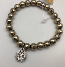 Chavez for Charity Gold Hematite Bracelet with Buddha Charm - TAPS Supporting Veterans