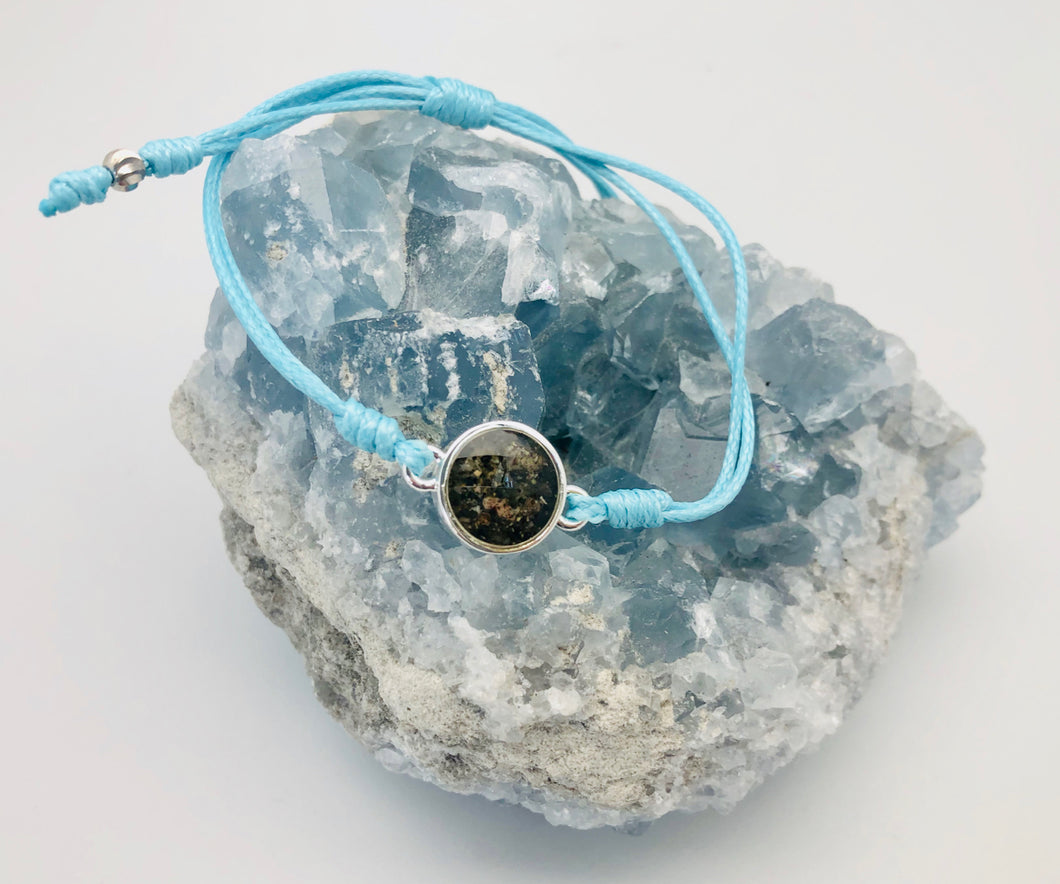 Dune Jewelry Touch the World Climate Change Prevention 7 Continent Sand & Blue Sun Bracelet