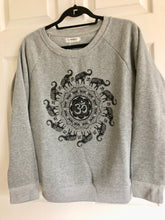 Heather Gray Elephant & Om Oversized Sweatshirt