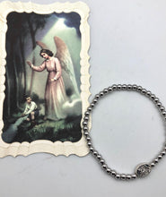 Mini St. Michael Guardian Angel Elastic Bead Bracelet