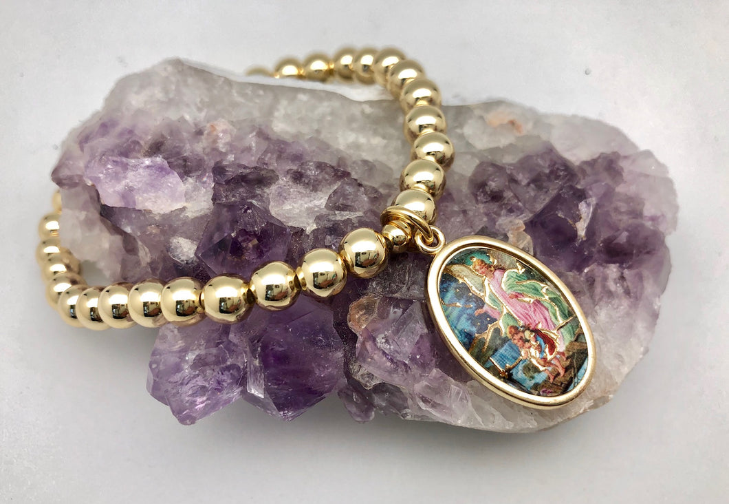 Colorful Guardian Angel Bead Bracelet