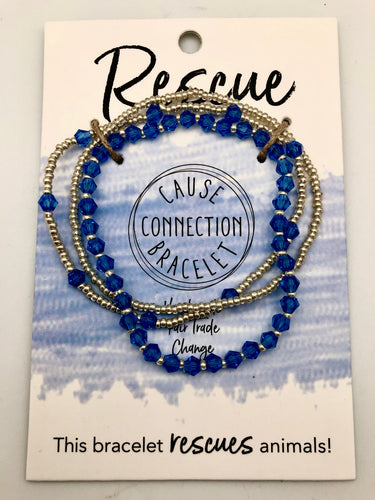 World Finds Cause Connection Rescue Animals Bracelet Set - Fair Trade