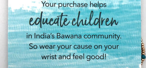 World Finds Cause Connection Educate Girls Bracelet Set - Fair Trade