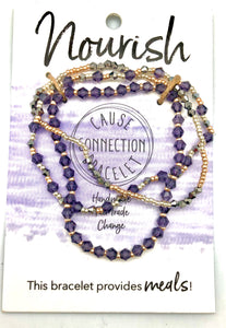 World Finds Cause Connection Feed Children Bracelet Set - Fair Trade