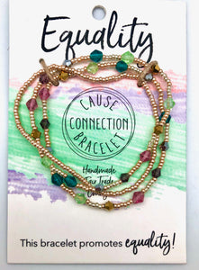 World Finds Cause Connection Equality for All Bracelet Set - Fair Trade