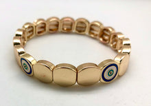 Caryn Lawn Round Tile Evil Eye Protection Gold Bead Bracelet