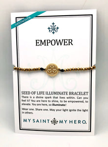 My Saint My Hero Gold Empower Seed of Life Illuminate Bracelet