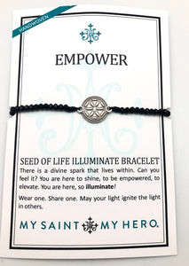 My Saint My Hero Silver Empower Seed of Life Illuminate Bracelet