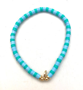 Caryn Lawn Seaside Skinny Disc Clearwater Blue Bracelet
