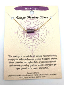 Energy Healing Amethyst Necklace