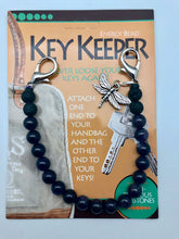 New Beginnings Amethyst Bead Aromatherapy Key Keeper with Dragonfly Charm