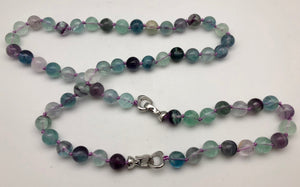 Fluorite protection convertible mala necklace and bracelet