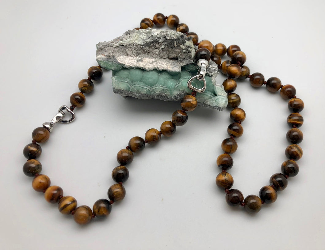 Tigers eye balance and fearlessness convertible mala necklace and bracelet