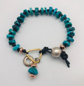 Clarity and Truth Turquoise Bead Bracelet by Peyote Bird
