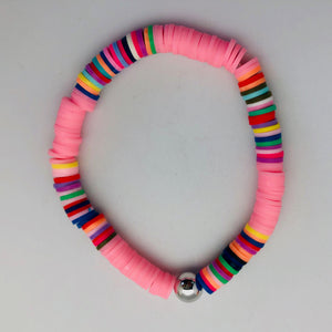 Love Lisa Neon Bright Bead Bracelet with Gold Bead