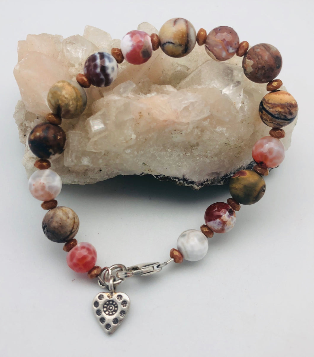 Steadfast Faith Picture Jasper Bracelet by Peyote Bird