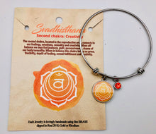 Silver Chakra Charm Adjustable Bangle Bracelets