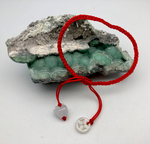 Jade by Nikolai Year of the Earth Boar Red String Coin and Pig Lavender Jade Charm Bracelet
