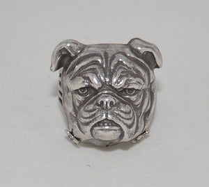 Jan Michaels Silver Bulldog Ring