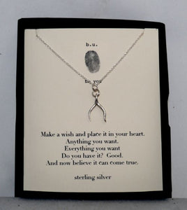 B.U. Wishbone Charm Necklace