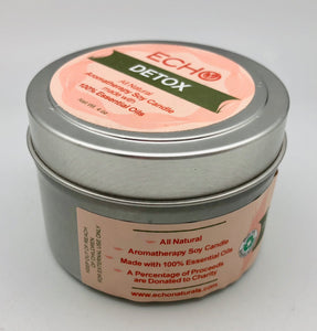 Echo Aromatherapy Affirmation Detox Soy Candle - Tangerine, Rosemary, Black Pepper