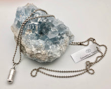 Silver Intention Capsule Ball Chain Necklace - Keep Your Dreams Close To Your Heart