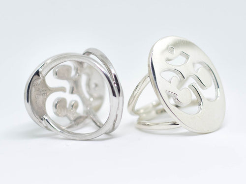 Jen Stock Shiny Silver Get Your Om On Ring