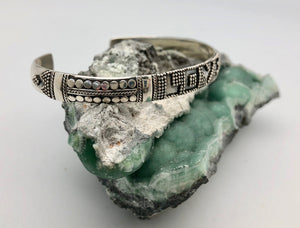 Love Is Project Small Indonesian Silver Love Cuff Bracelet