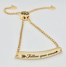 Adjustable Gold Affirmation Chain Bracelet - Follow Your Arrow