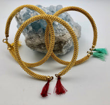 Fair Trade Handmade Woven Wire Bangle Bracelets