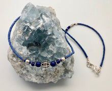 Nepali Blue Serenity Lapis & Silver Small Bead Necklace