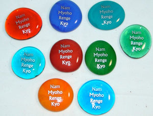 Nam Myoho Renge Kyo Glass Pocket Stones (Set of 2)