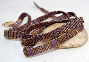 Hand Beaded Fair Trade Nam Myoho Renge Kyo Wrap Bracelet