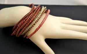 Recycled Striped Rubber Fair Trade Bangle Bracelets from Mali