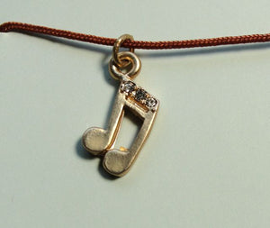 Pretty Moon Jewels Music of Life Gold Note Necklace