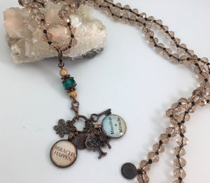 Power Penny Affirmation Necklaces