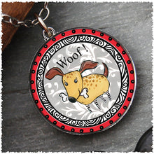 Spirit Lala Reversible I Love My Dog Pendant Neckace