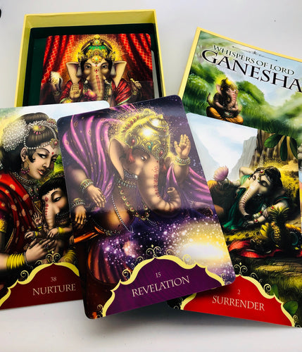 Whispers of Lord Ganesh Oracle Card Deck and Book