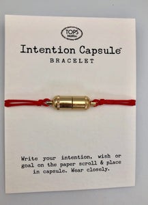 Gold Intention Capsule Slip Bracelet - Wear Your Dreams On Your Wrist