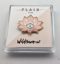 Wildflower Pink I Am Protected Lotus Evil Eye Pin