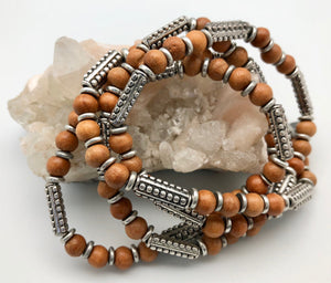 Vanessa Mooney Sandalwood and Silver Willows Bracelet Set