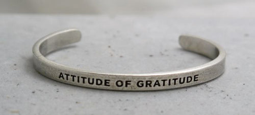 Whitney Howard Pewter Inspirational Cuff Bracelets