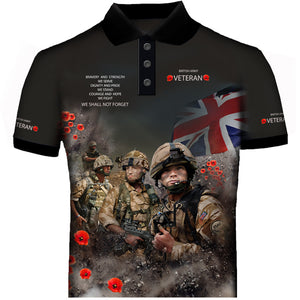 Army Veteran Poppy  Polo Shirt 0B19