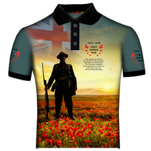 Poppy The Somme WW1  Polo Shirt